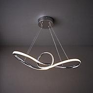 Endor Pendant Chrome effect Ceiling light