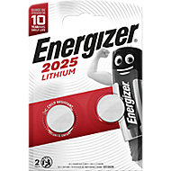 Energizer CR2025 Battery, Pack of 2
