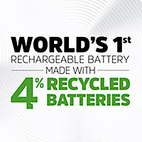 Energizer Recharge Rechargeable AA Battery, Pack of 4