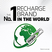 Energizer Recharge Rechargeable AAA Battery, Pack of 4