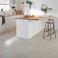 English Light grey Satin Stone effect Porcelain Floor tile, Pack of 6, (L)600mm (W)300mm
