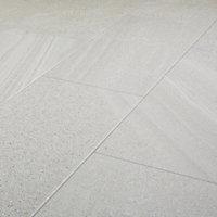 English Light grey Satin Stone effect Porcelain Floor Tile Sample