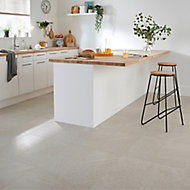 English Light grey Satin Stone effect Porcelain Wall & floor Tile, Pack of 6, (L)600mm (W)300mm
