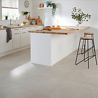 English Light grey Satin Stone effect Porcelain Wall & floor Tile Sample
