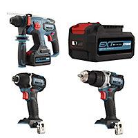 Erbauer EXT 18V 5Ah Li-ion Cordless 3 piece Power tool kit