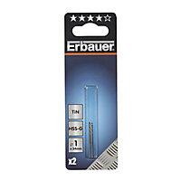 Erbauer HSS Drill bit (Dia)1mm (L)34mm, Pack of 2
