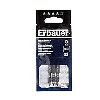 Erbauer PH1 Impact Screwdriver bits 50mm, Pack of 3