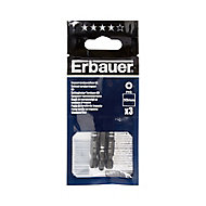 Erbauer PH3 Impact Screwdriver bits 50mm, Pack of 3