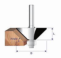 """Erbauer ¼"""" shank Chamfer cutter (Dia)41.3mm"""