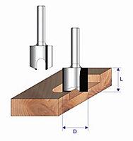 """Erbauer ¼"""" shank Hinge cutter (Dia)20mm (L)50.85mm"""