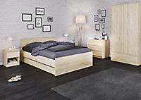 Esla High gloss oak oak effect 3 Drawer Chest of drawers (H)700mm (W)770mm (D)500mm