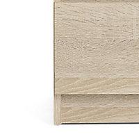 Esla High gloss oak oak effect 5 Drawer Chest of drawers (H)1100mm (W)400mm (D)500mm