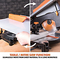 Evolution 1200W 240V 210mm Table mitre saw R210MTS