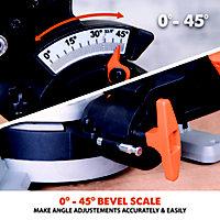 Evolution 1500W 240V 210mm Sliding mitre saw R210SMS