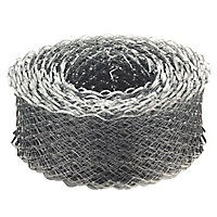 Expamet Galvanised Galvanised steel Coil lath, (L)20m (W)115mm