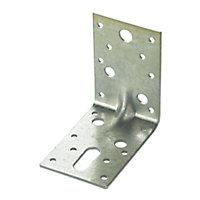Expamet Zinc effect Galvanised Steel Heavy duty Angle bracket (L)90mm, Pack of 20