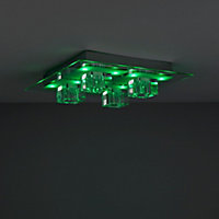 Fama Chrome effect 4 Lamp Ceiling light