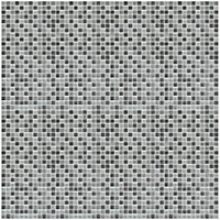 Faros Grey Glass effect Glass Mosaic tile sheets, (L)300mm (W)300mm