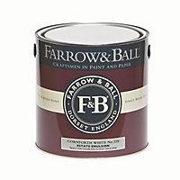 Farrow & Ball Estate Cornforth white No.228 Matt Emulsion paint, 2.5L