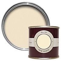 Farrow & Ball Estate New white No.59 Emulsion paint 100ml Tester pot