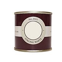 Farrow & Ball Estate Strong white No.2001 Emulsion paint 100ml Tester pot