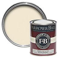Farrow & Ball Estate White tie No.2002 Eggshell Metal & wood paint, 0.75L