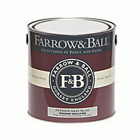 Farrow & Ball Modern Pavilion gray No.242 Matt Emulsion paint 2.5L