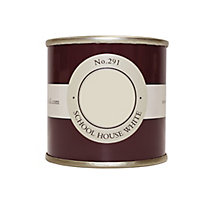 Farrow & Ball School house white No.291 Matt Emulsion paint 100ml Tester pot