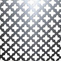 FFA Concept Silver effect Steel Embossed Sheet, (H)500mm (W)500mm (T)1mm