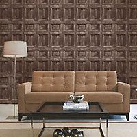 Fine Décor Choc Wood panel Smooth Wallpaper