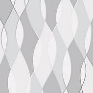 Fine Décor Grey Geometric Embossed Wallpaper