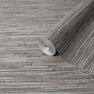 Fine Décor Stone Grasscloth Textured Wallpaper
