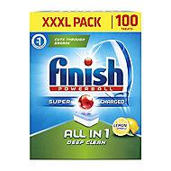 Finish All in 1 Lemon Dishwasher tablets, Pack of 100