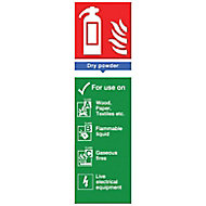 Fire hydrant dry powder Fire information sign, (H)280mm (W)85mm