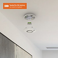 FireAngel Pro Connected Battery-powered Smart smoke alarm