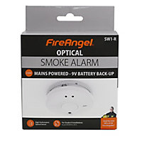 FireAngel SW1-R Optical Smoke Alarm with 1-year battery