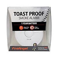 FireAngel Toast Proof SB1-R Optical Smoke Alarm with 1-year battery