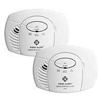 First Alert 2117529 Carbon monoxide Alarm, Pack of 2