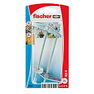 Fischer Spring toggle (L)90mm (Dia)14mm, Pack of 2