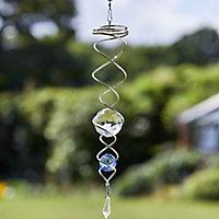 Flamboya Blue Double helix Wind spinner 41cm