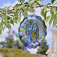 Flamboya Peacock Wind spinner 30cm
