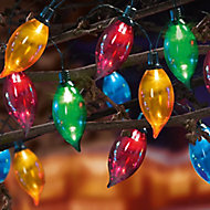 Flame bright 80 Multicolour LED Flame String lights Green cable