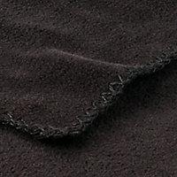 Fleece Black Plain Fleece Throw
