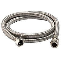 """Flexible tap connector, (Dia)15mm (Dia)½"""" (L)1500mm"""