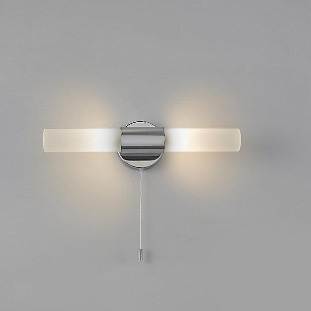 Float Chrome Effect Double Bathroom, Wall Lights For Bathroom