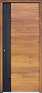Flocked Meranti RH External Front Door, (H)2180mm (W)976mm
