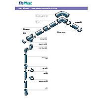 FloPlast Black Half round Gutter length (L)3m (Dia)112mm