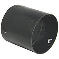 FloPlast Black Land drainage Waste pipe coupler, (Dia)100mm