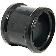 FloPlast Black Push-fit Underground drainage Coupler (Dia)110mm