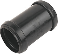 FloPlast Black Push-fit Waste pipe Coupler (Dia)40mm